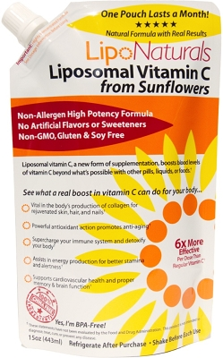 Lipo Naturals Liposomal Vitamin C from Sunflowers 15oz / 30 Daily Doses
